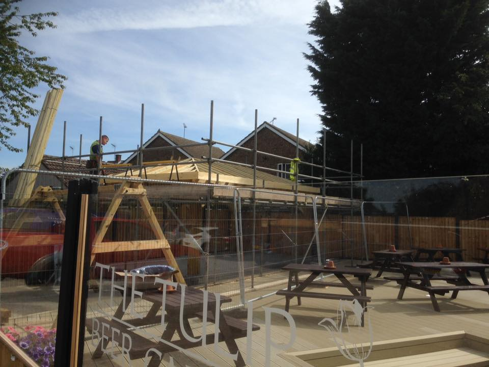 Keenan Roofing Chelmsford Essex Roof for Pub Smoking Shelter