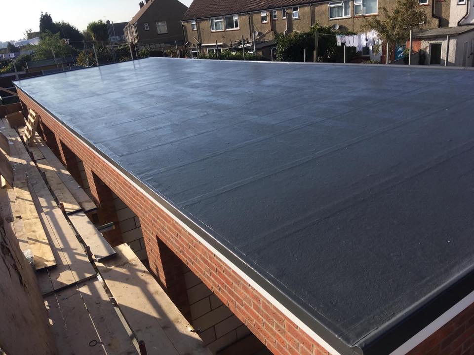GRP Roofing on garages in Harwich Essex