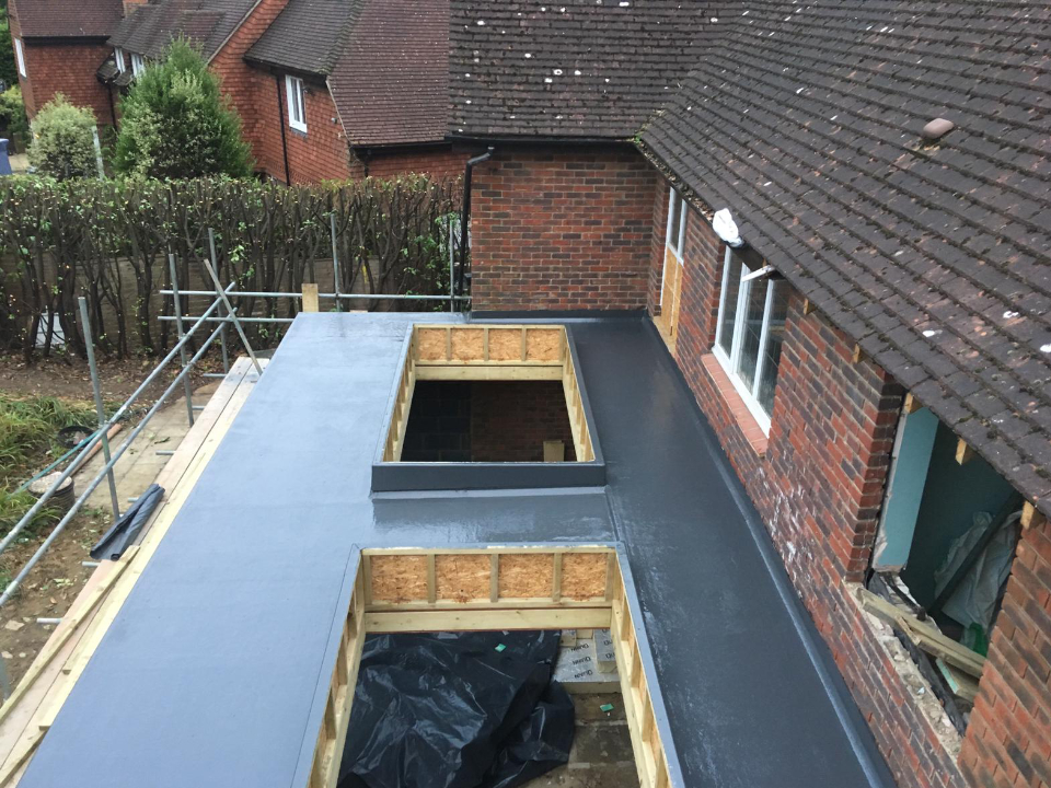 Hutton GRP Roof Installed